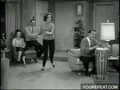 Laura Petrie dancing