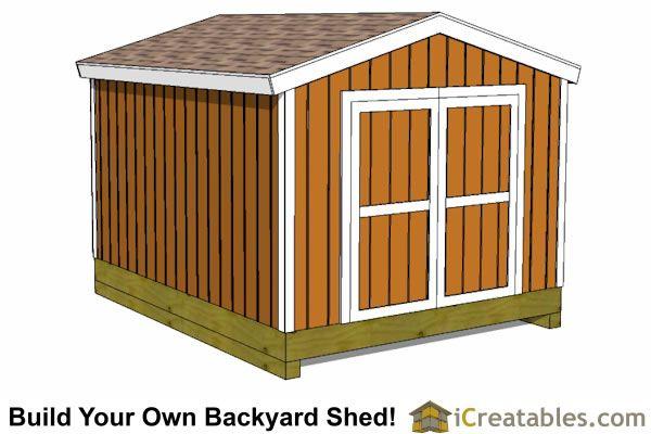 10x12 backyard cheap shed plan