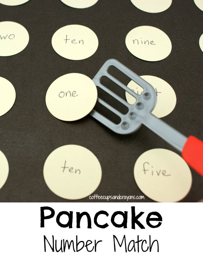 Pancake number match is a fun way to work on number words! Get flipping!