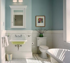 Love this, just like a bathroom I had in my 200 year old Federal Home.