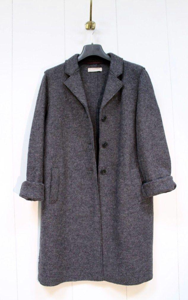 Grey Wool Felt Coat by Stefanel