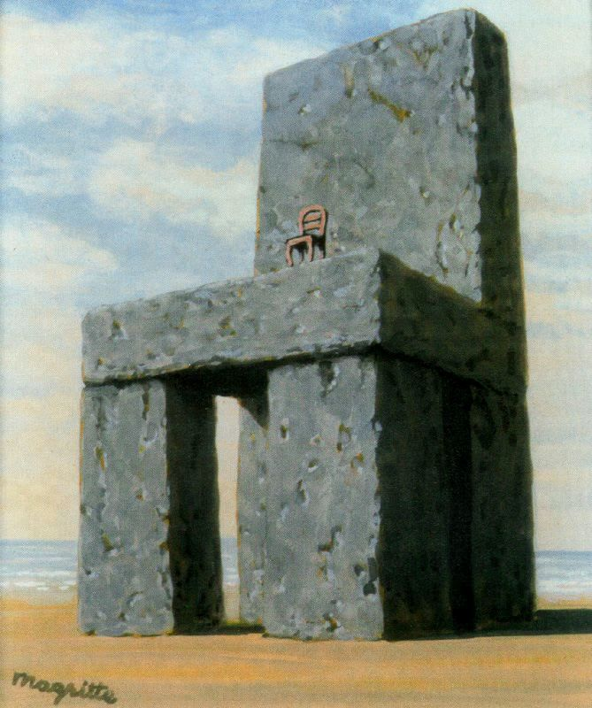 The Legend of the Centuries by René Magritte, 1948. Magritte was paying homage to the lack of moderation displayed by Victor Hugo who wrote his epic poem between 1859 and 1883. Hugo wished to record...