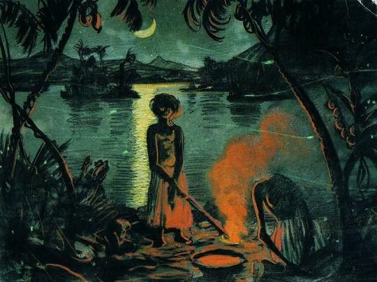 'Nocturnal landscape', 1922 - Stanislaw Ignacy Witkiewicz (1885–1939)