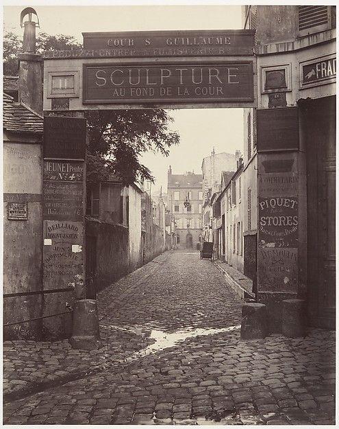 Cour Saint-Guillaume Artist: Charles Marville (French, Paris 1813–1879 Paris) Date: ca. 1865 Medium: Albumen silver print from glass negative
