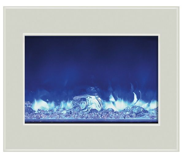 Amantii ZECL-39-4134-WHTGLS electric fireplace insert with white glass; $1469 cdn.