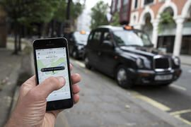 Uber celebrates four years of annoying London taxi drivers     - CNET   Enlarge Image  Ride-hailing app Uber has 2 million users in London home of the iconic black cab.                                              Oli Scarff/Getty Images                                          Uber first hit the road in London four years ago and today said it has more than 2 million regular users in the British capital.  To mark the birthday uberPOOL rides  which are shared with other passengers going in…