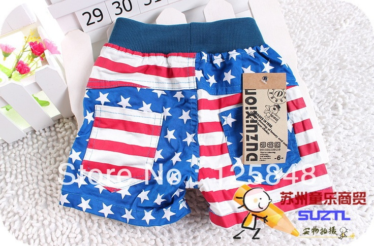 Hot summer for boys and girls children pentagram stripe baby shorts shorts Korean wholesale on AliExpress.com. $24.95