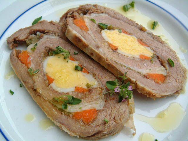 Matambre y ensalada rusa, un clásico argentino. (entrar `para leer la receta)