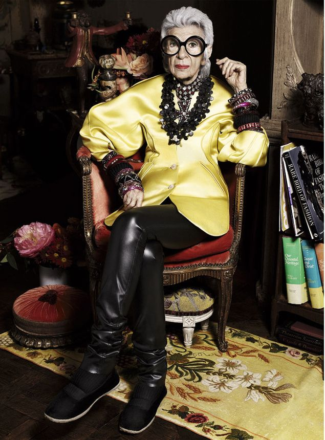 Iris Afpel- I hope to be this cool (if I'm still alive) at 91.