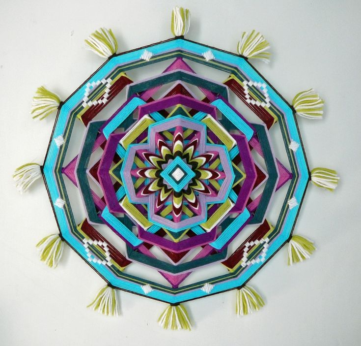 Jay Mohler Updates the Traditional Craft of Homespun God's Eyes to Create Elaborate Masterpieces up to 24 Inches Wide