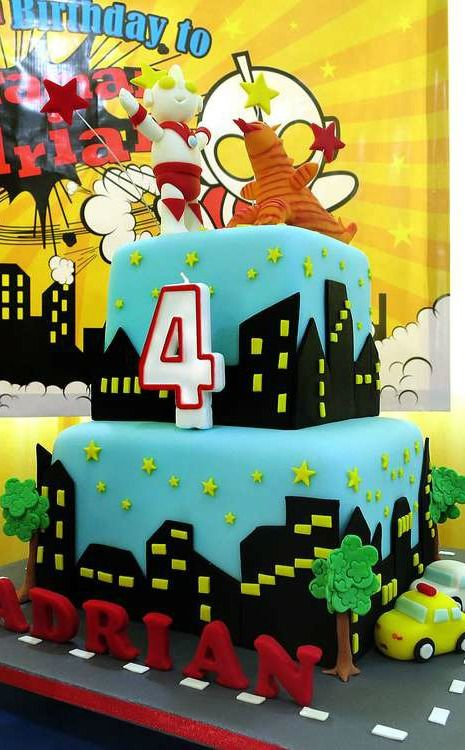Ultraman Birthday Party Cake!  See more party planning ideas at CatchMyParty.com!