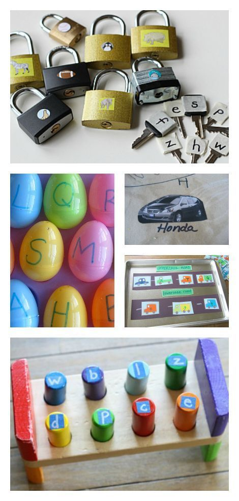 Alphabet activities for kids like letter sorting and phonics activities.
