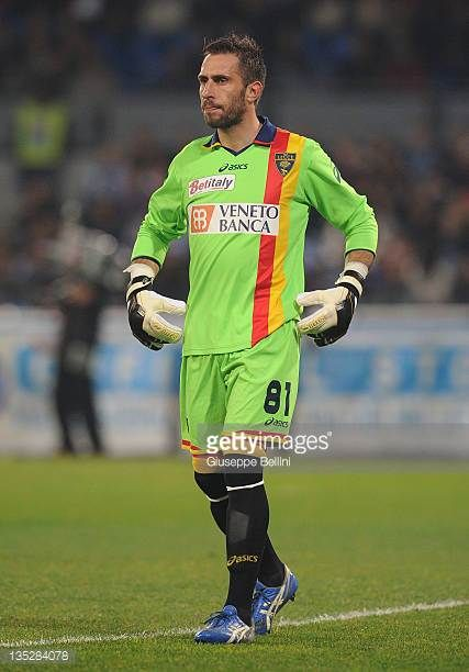 Massimiliano Benassi of Lecce in action during the Serie A match between SSC Napoli and US Lecce at Stadio San Paolo on December 3 2011 in Naples...