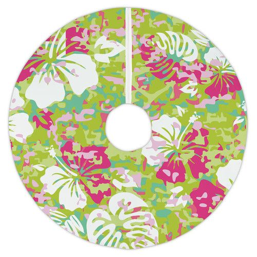 Found it at Wayfair - Key West Tropical Christmas Tree Skirt