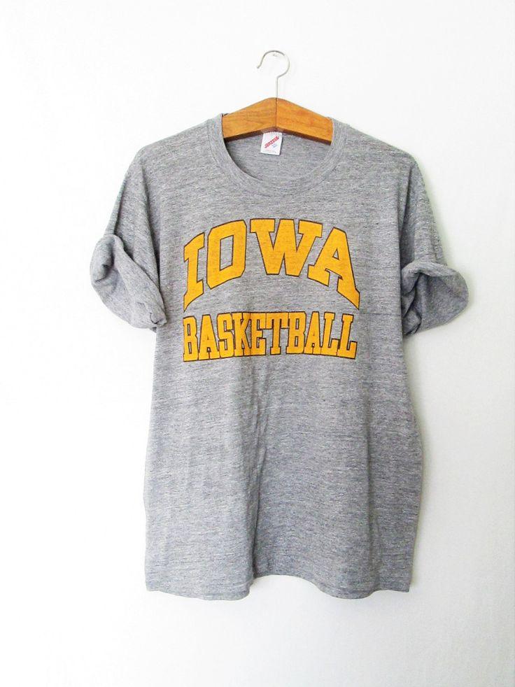 Vintage Iowa Basketball Hawkeyes Jerzees Tshirt by FreshtoDeathVintage on Etsy