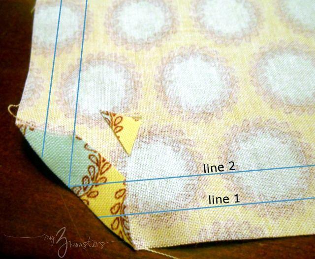 DIY tela servilletas y anillos de servilleta {Cómo coser Perfect inglete las esquinas!}