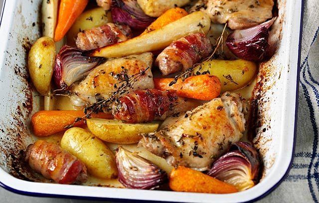 One-pot Sugar-glazed Roast Sunday Lunch
