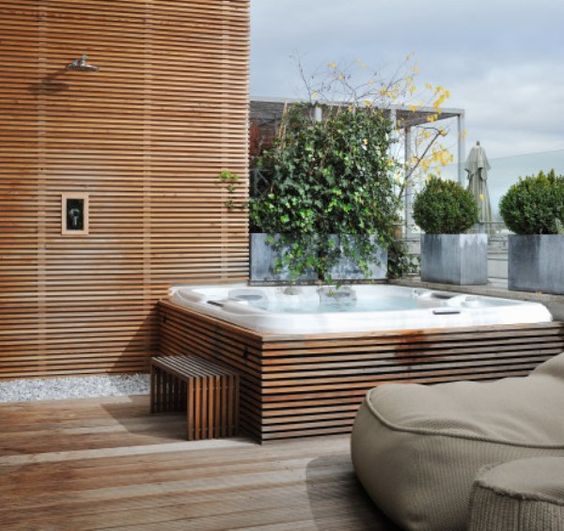 Image result for Rooftop terrace with jacuzzi
