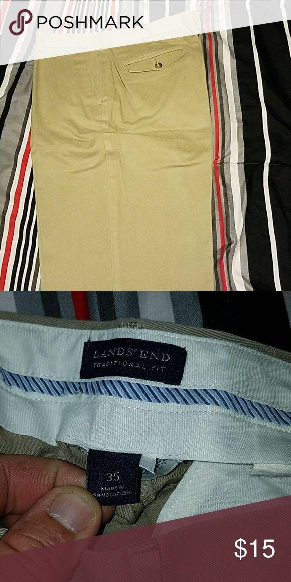 Lands End 35x36 35x36 Lands End Traditional Fit Mens Khaki Pants Lands' End Pants Chinos & Khakis