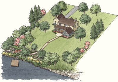 Landscaping for privacy - for that eventual dream property with acreage