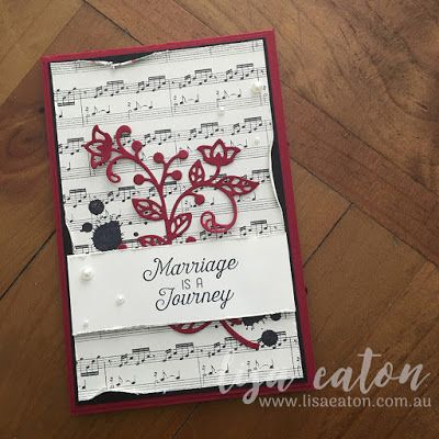 Lisa Eaton | Global Design Project - GDP063 | Stampin' Up! | Gorgeous Grunge | Flourishing Phrases | Flourish Thinlets | This Christmas DSP