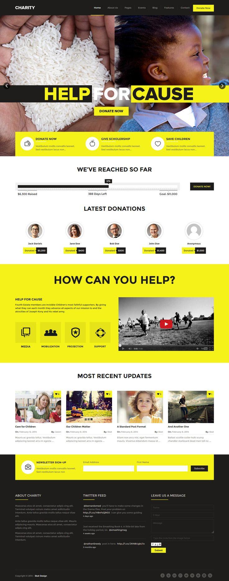 Charity Donations Foundation Fundraising premium WordPress theme, built on the Bootstrap Framework. #webdesign #wordpress