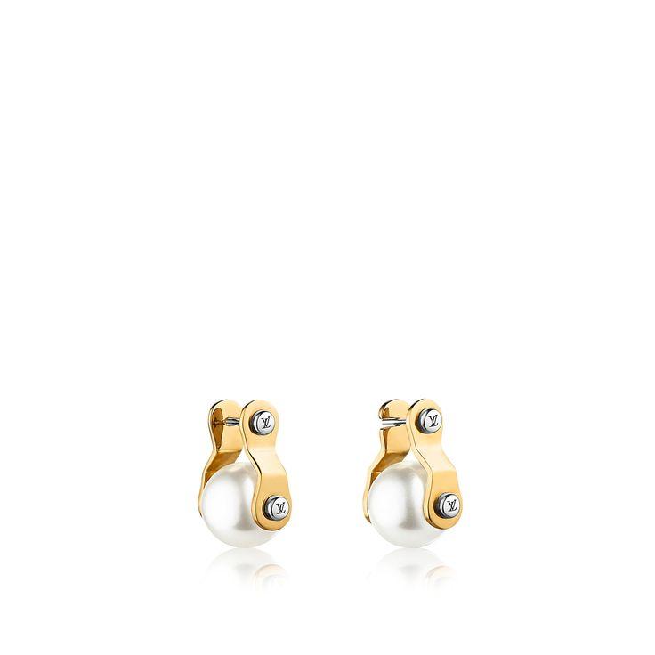 Entdecken Sie LV Speedy Pearls Ohrringe via Louis Vuitton