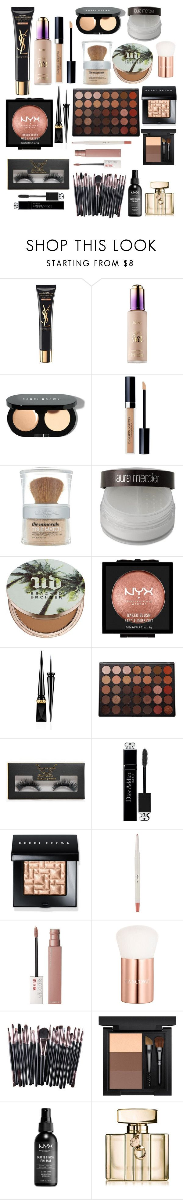 """""""Untitled #2677"""" by mfr-mtz ❤ liked on Polyvore featuring Yves Saint Laurent, tarte, Bobbi Brown Cosmetics, Christian Dior, L'Oréal Paris, Laura Mercier, Urban Decay, NYX, Christian Louboutin and Morphe"""