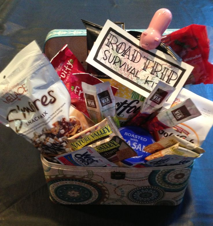 Road Trip Survival Kit Road Trip Basket Road Trip Gifts