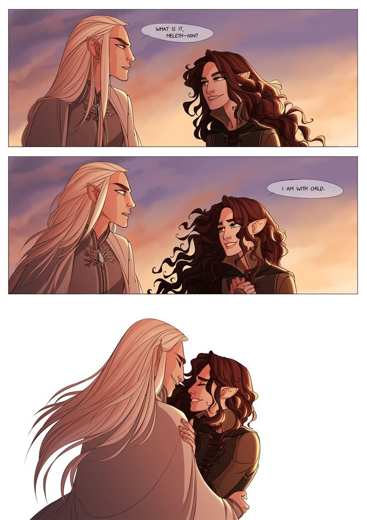 Thranduil and his wife by hatteeho 3   That's so sweet!)) You can read their story here! https://www.wattpad.com/221597631-stars-of-varda-an-elven-love-story-thranduil-1
