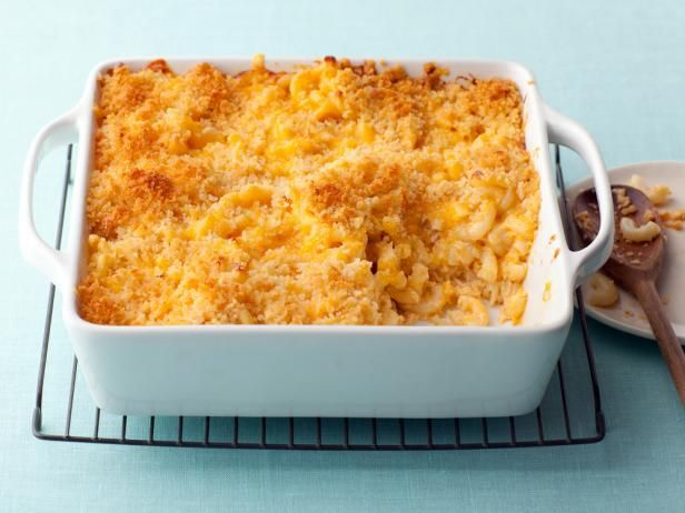 Alton Brown Food Network Mac n Cheese - THIS IS THE ONE!!!! add onions before anything else and saute, then mustard and flour,  the rest of the ingredients, 8 - 12 oz cheese and 3/4 - 1 box of dry noodles.