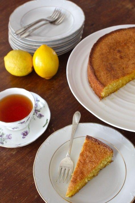 Gluten Free Meyer Lemon, Cornmeal & Almond Cake by simplebites  #Cake #Gluten_Free #Lemon #Almond #Cornmeal