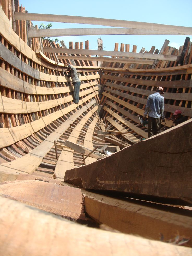 Wooden hull construction