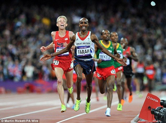 Gold run: Mo Farah powered ahead of the field in the closing stages of the 10,000m to claim Britain's sixth gold of an extraordinary day