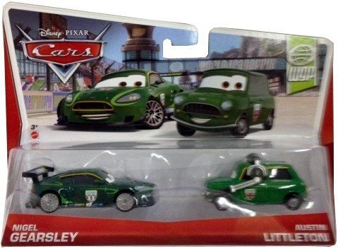 Disney/Pixar Cars Nigel Gearsley and Crew Chief Diecast Vehicle, 2-Pack by Mattel. $12.99. Includes two collectible die-cast characters that share a key scene in the films. Collect all your favorite Cars characters. A great gift that any Cars fan will love. Inspired by the hit Disney/Pixar Cars animated film series. Kids will love reenacting their favorite scenes from the movies. From the Manufacturer                Disney/Pixar Cars Die-Cast 2 Packs Collection: All kids' favor...