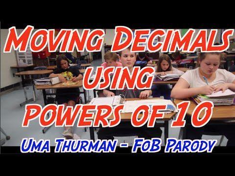 Moving Decimals using powers of 10 (Uma Thurman Parody) - YouTube