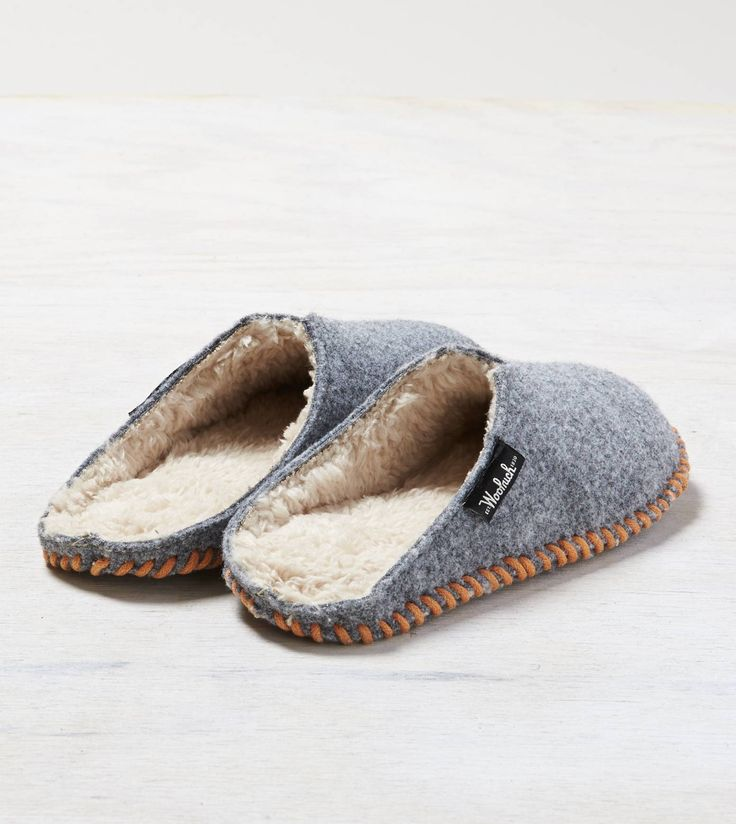 Grey Woolrich Felt Mill Scuff Slipper