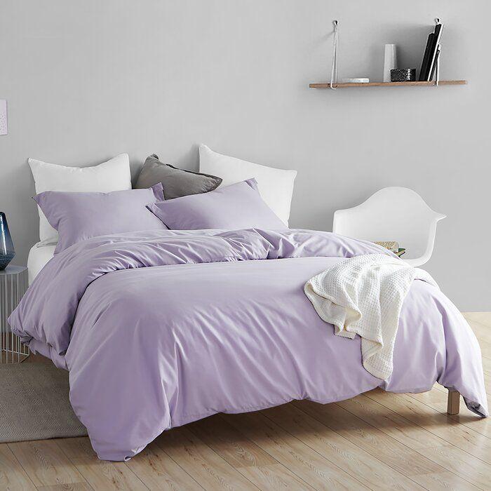 Winston Porter Duley Supersoft Bedding Duvet Cover Set Reviews Wayfair Purple Duvet Cover Purple Duvet Bed Linens Luxury