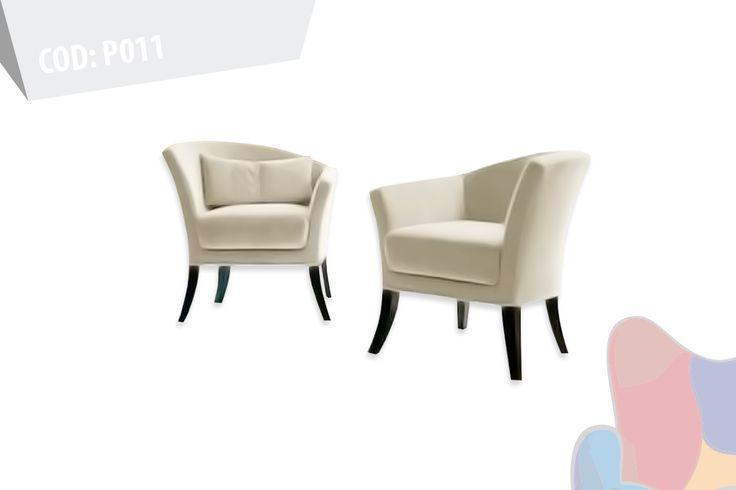 P011 Poltrona Cisne  Medidas: 80 cm ancho / 70 profundidad / altura brazo 70 y 85 cm / Altura asiento 50 cm / ancho de asiento interior / Base