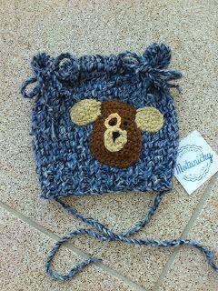 motaničky: pletená čiapka s uškami pre bábätko