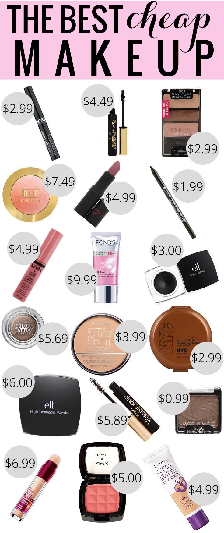 Cool Cars girly 2017: The Best Cheap Makeup, best drugstore makeup, makeup under $10...  Drugstore Beauty Check more at http://autoboard.pro/2017/2017/04/19/cars-girly-2017-the-best-cheap-makeup-best-drugstore-makeup-makeup-under-10-drugstore-beauty/