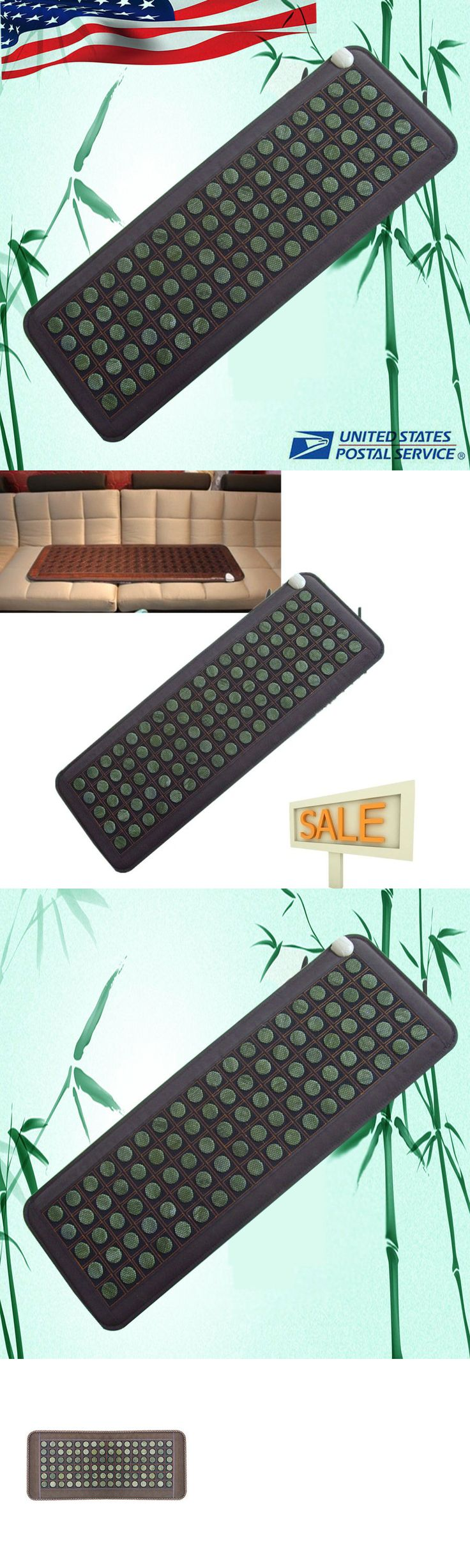 Massage Stones and Rocks: Us- 50*150Cm Natural Jade Tourmaline Stones Negative Ions Infrared Heating Pad -> BUY IT NOW ONLY: $144 on eBay!
