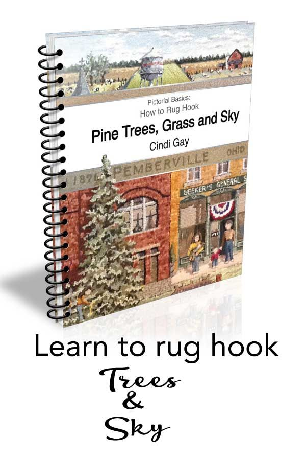 YOU can hook a realistic pictorial rug by following the step by step instructions in this book.