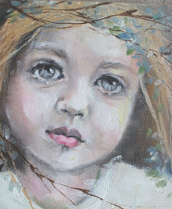 original girl child realism portrait oil painting  by fadedwest,