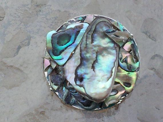 Modern Art Brooch. by MosaicmagicArt on Etsy, 2.5cm circle $35.00
