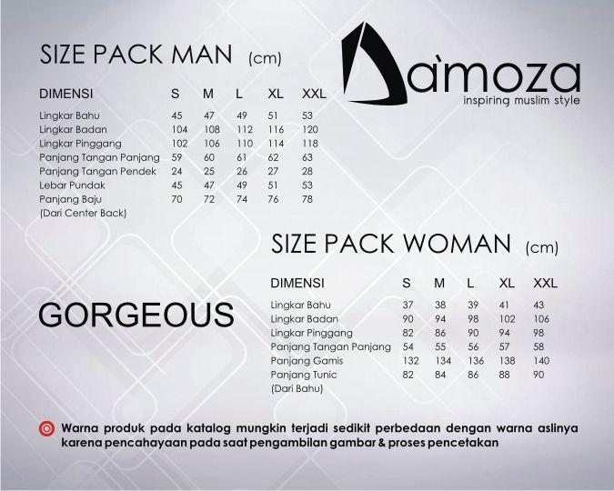 Ukuran standar produk Da'moza #koko #damoza