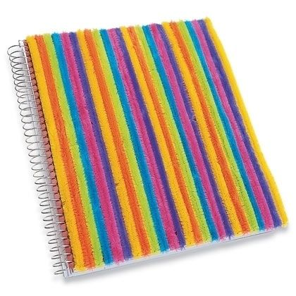 Pipe cleaner notebook that kids can help make | 37 Awesome DIYs To Make Before School Starts