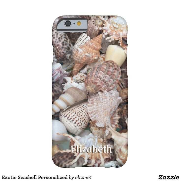 Exotic Seashell Personalized Barely There iPhone 6 Case