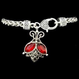 Flying Ladybug Decorative Clasp Bracelet....Love Love the Lady Bug
