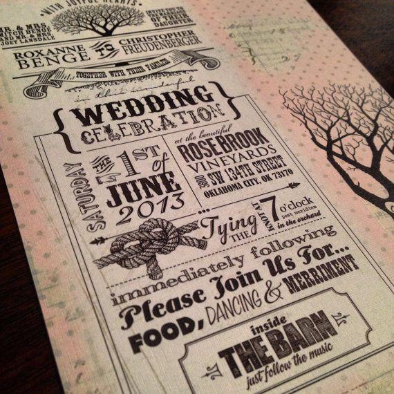 Pink Barn Rustic Vintage Wedding Invitations & RSVP Postcards